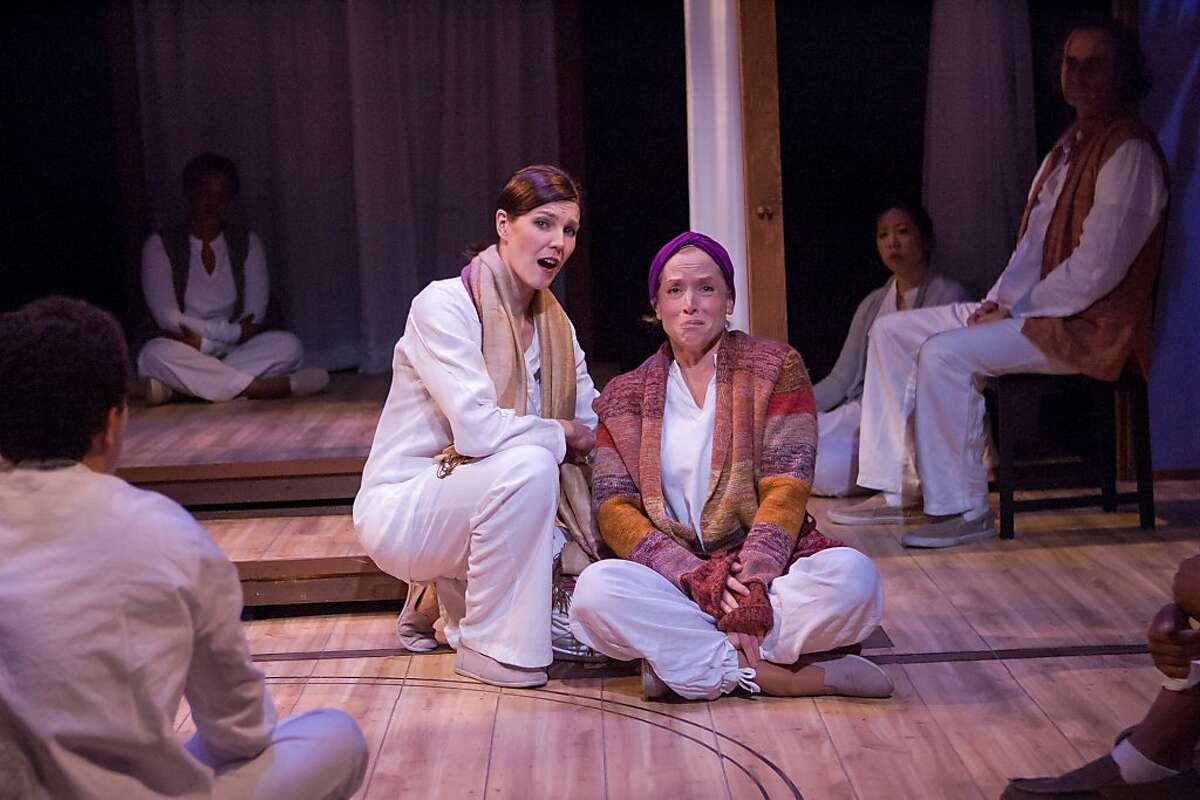 Mama Sid (Annemaria Rajala, left) counsels a woman with cancer (Bekka Fink) in Tanya Shaffer's