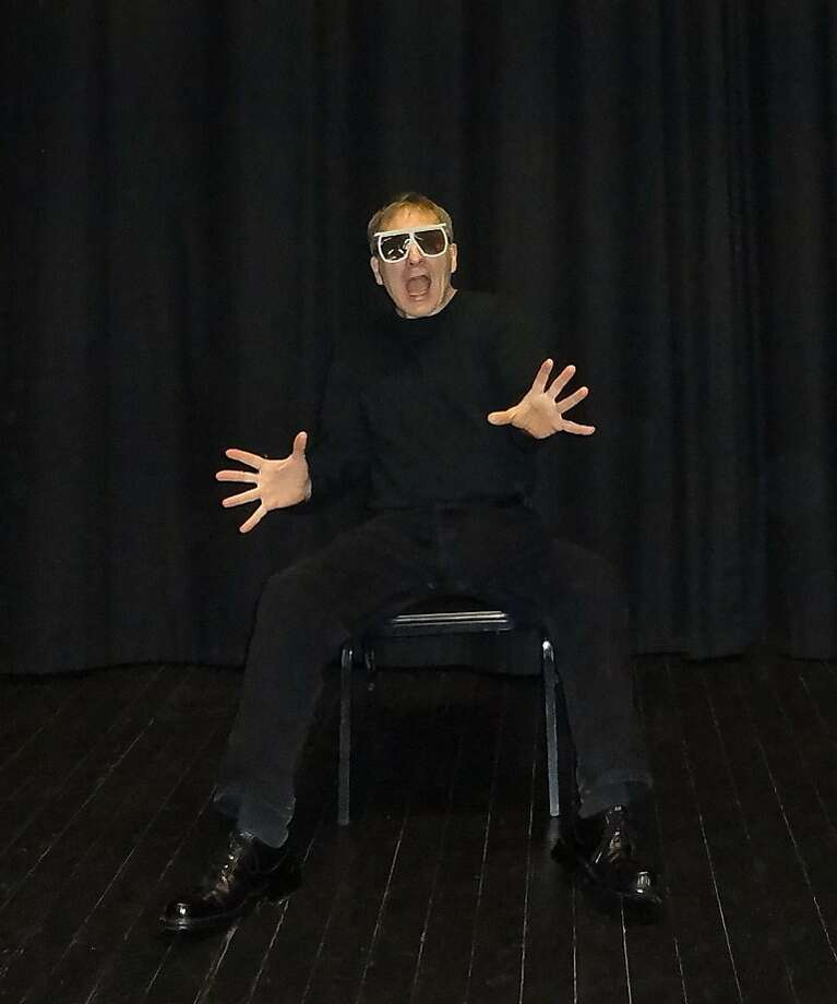 "David Caggiano plays many roles, including a boy at a 3-D movie, in his one-man show ""Jurassic Ark."" Photo: David Hirata"