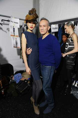 Designer Cesar Galindo poses backstage at the runway at AMC's new series Immortalized presents CZAR by Cesar Galindo Fall 2013 Fashion Show at Lincoln Center on February 8, 2013 in New York City. Photo: Michael Loccisano, Getty Images For AMC / 2013 Getty Images