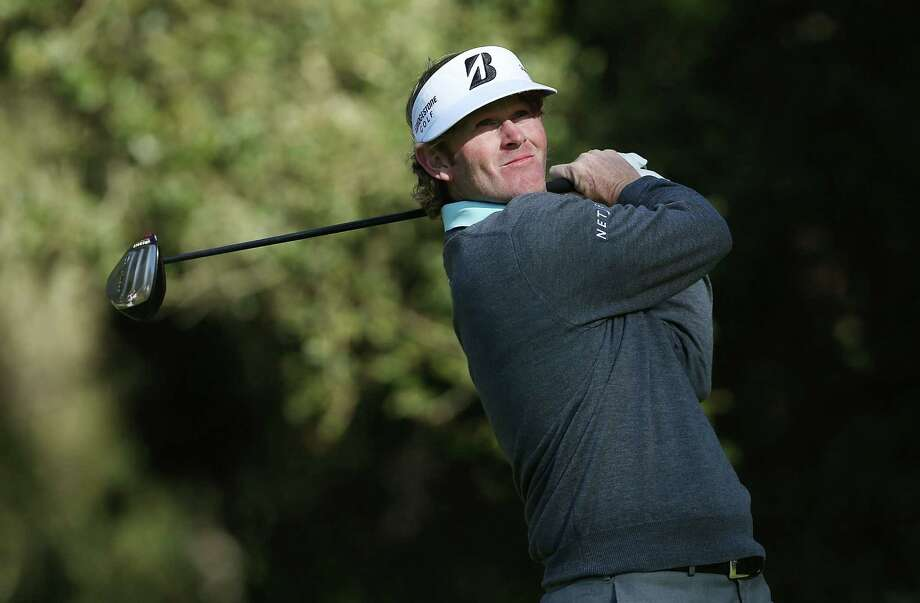 Brandt Snedeker's second-round 4-under 68 at Spyglass Hill on Friday gave him a share of the lead in the Pebble Beach National Pro-Am. Photo: Jeff Gross, Staff / 2013 Getty Images