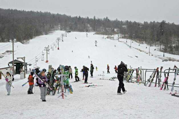 Snowboarders and skiers take advantage of the snowy weather at West Mountain ski area on Friday Feb. 8, 2013 in Glens Falls, N.Y. (Lori Van Buren / Times Union) Photo: Lori Van Buren