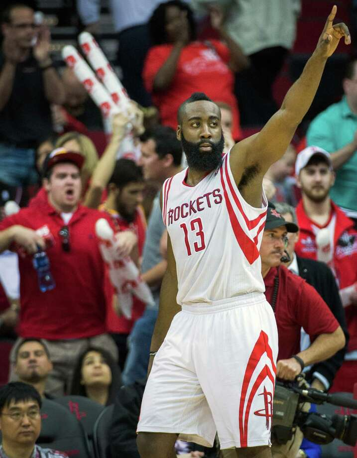 In a game of shooting stars, James Harden stood alone as the top gun. The Rockets guard hit 13 of 16 shots from the field en route to a 35-point performance Friday night at Toyota Center. Photo: Smiley N. Pool, Staff / © 2013  Houston Chronicle