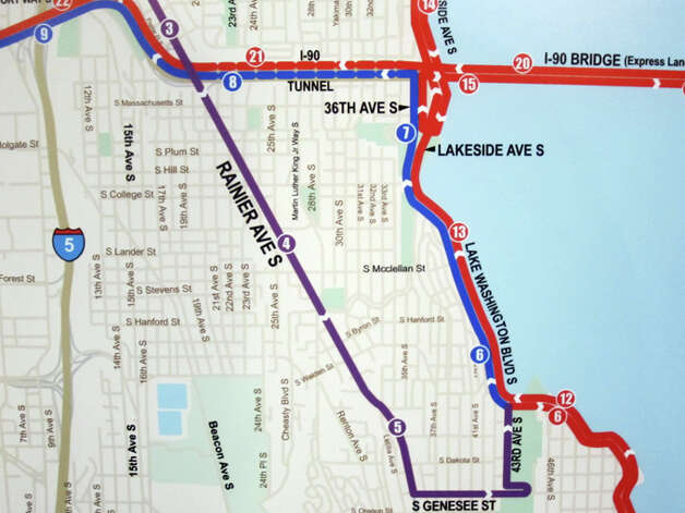 The 2013 Seattle Rock 'n' Roll Marathon and Half Marathon courses stay together for nearly six miles before splitting at Lake Washington Boulevard South. Photo: Casey McNerthney/seattlepi.com