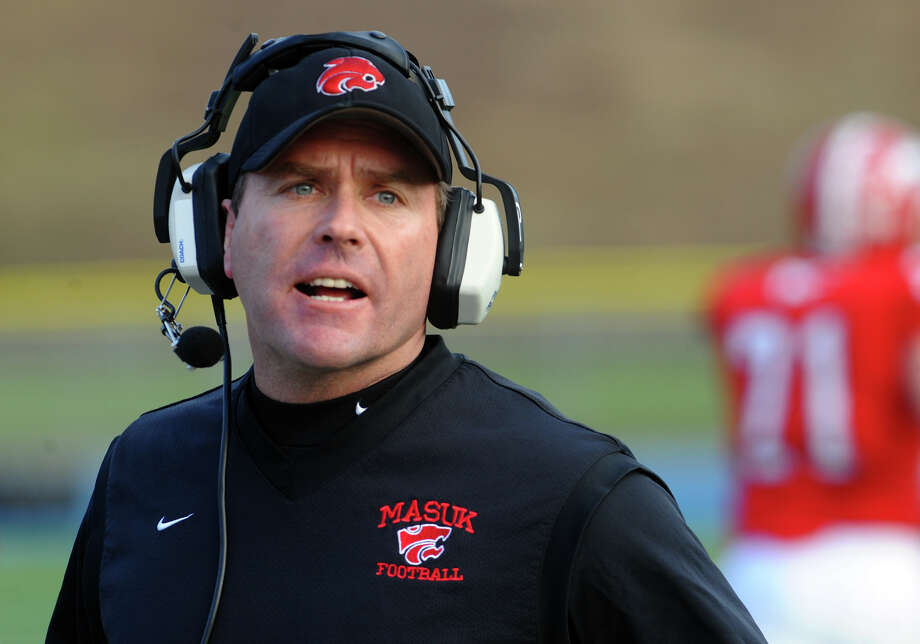 John Murphy takes over a New Milford football program that has had limited success. Photo: Christian Abraham / Connecticut Post