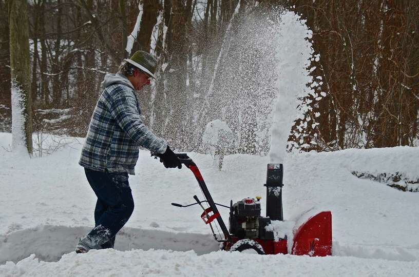 New Canaan was slammed with about 22 inches of snow during the blizzard Friday and Saturday. Photo b