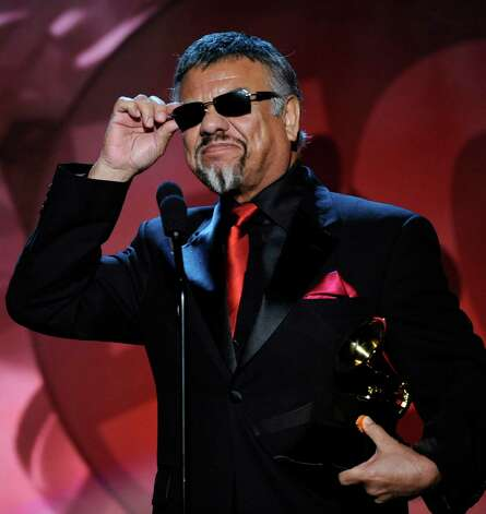Little Joe accepts the award for best Mexican/Mexican-American album in 2008. Photo: Kevork Djansezian, AP / AP