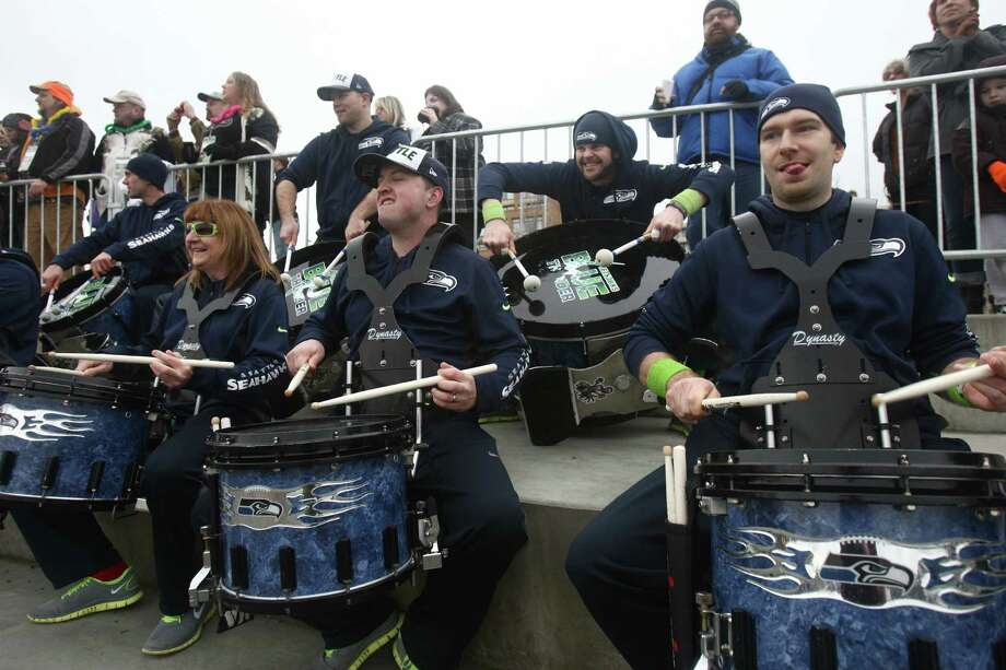 Members of Blue Thunder perform during the Special Olympics Washington Polar Plunge on Saturday, February 9, 2013 at South Lake Union Park in Seattle. Nearly 600 plungers participated in the event, part of a fundraiser for Special Olympics Washington. Photo: JOSHUA TRUJILLO, SEATTLEPI.COM / SEATTLEPI.COM