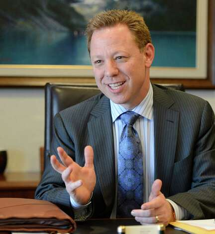 Golub Corporation CEO Jerel Golub speaks during an interview Monday afternoon, Feb. 4, 2013, at the Golub headquarters in Schenectady, N.Y. (Skip Dickstein/Times Union) Photo: SKIP DICKSTEIN / 00020978A