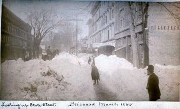 Blizzard of 1888 Bridgeport Photograph property of Bridgeport History Center, Bridgeport Public Library