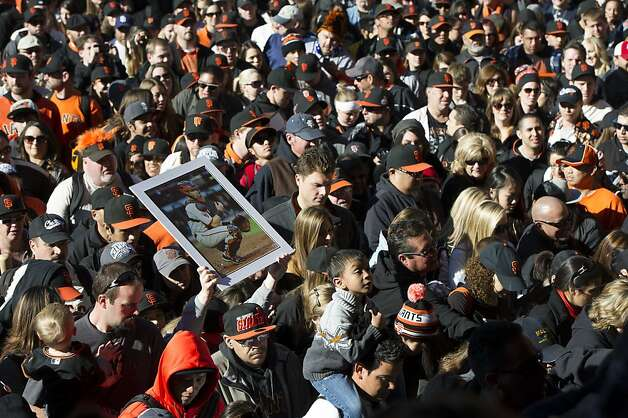San Francisco Giants fans enter AT&T Park during fan appreciation day in San Francisco, Calif., on Saturday, Feb. 9, 2013. Photo: David Paul Morris, Special To The Chronicle