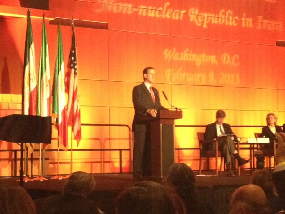 Former U.S. Rep. Rick Santorum, R-Pennsylvania, spoke at the National Convention of Iranian American Communities.
