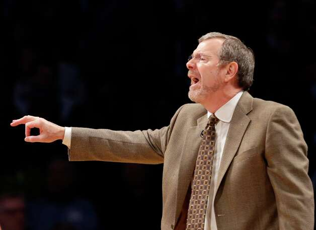 Nets interim head coach P.J. Carlesimo yells at his team in the first half of their game against the Miami Heat at the Barclays Center, Wednesday, Jan. 30, 2013 in New York. Photo: Kathy Willens, Associated Press / AP