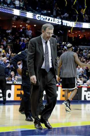 Nets coach P.J. Carlesimo leaves the floor after a game against the Memphis Grizzlies in Memphis, Tenn., Friday, Jan. 25, 2013. The Grizzlies defeated the Nets 101-77. Photo: Danny Johnston, Associated Press / AP