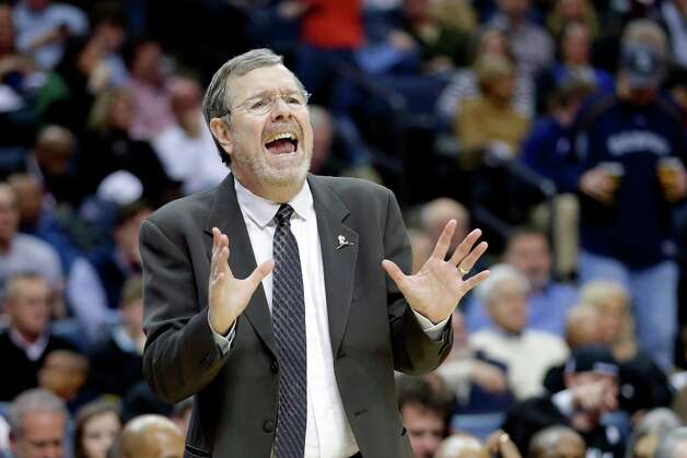 Nets coach P.J. Carlesimo reacts to an official's call during the first half against the Memphis Grizzlies in Memphis, Tenn., Friday, Jan. 25, 2013. Photo: Danny Johnston, Associated Press / AP