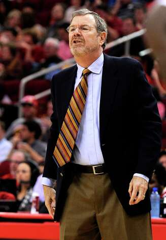 Nets interim coach P.J. Carlesimo yells at his players in the first half against the Rockets on Saturday, Jan. 26, 2013, in Houston. Photo: Pat Sullivan, Associated Press / AP
