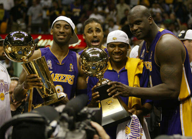 5 titles, 47 contested (NBA, MLB, NHL)The Los Angeles Lakers won the NBA Finals in the 2000-2001, 2001-2002, 2008-2009 and 2009-2010 seasons. The Kings won the Stanley Cup in 2011-2012. Photo: MICHAEL CONROY, AP / AP