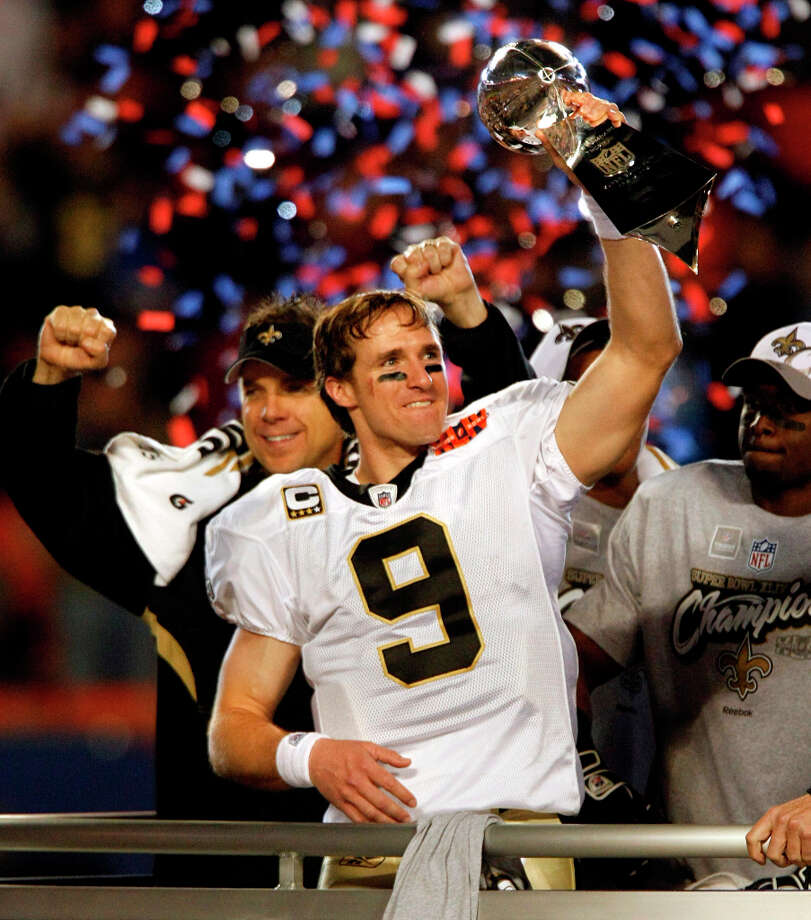 1 titles, 22 contested (NFL, NBA - the Hornets' first season in New Orleans was the 2002-2003 season)The New Orleans Saints won the Super Bowl in 2009. Photo: Tom Fox, MCT / Dallas Morning News