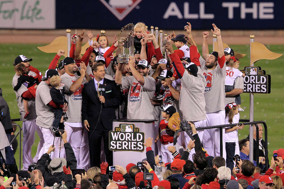 2 titles, 35 contested (NFL, MLB, NHL)The St. Louis Cardinals won the World Series in 2006 and 2011. Photo: Doug Pensinger, Getty / 2011 Getty Images