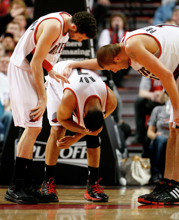 0 titles, 12 contested (NBA)The Portland Trail Blazers have been knocked out of the first round of the NBA Playoffs in six seasons since 2000. Photo: Nick De La Torre, Houston Chronicle / Houston Chronicle