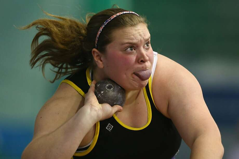 Sandra Miseikyte competes in the women's shot put final during day one of the British Athletics European Trials & UK Championship at the English Institute of Sport on February 9, 2013 in Sheffield, England. Photo: Michael Steele, Getty Images