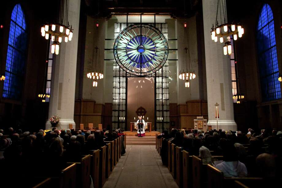 Participants gather at St. Marks Cathedral during an interfaith vigil and march against gun violence. Photo: JOSHUA TRUJILLO, SEATTLEPI.COM / SEATTLEPI.COM