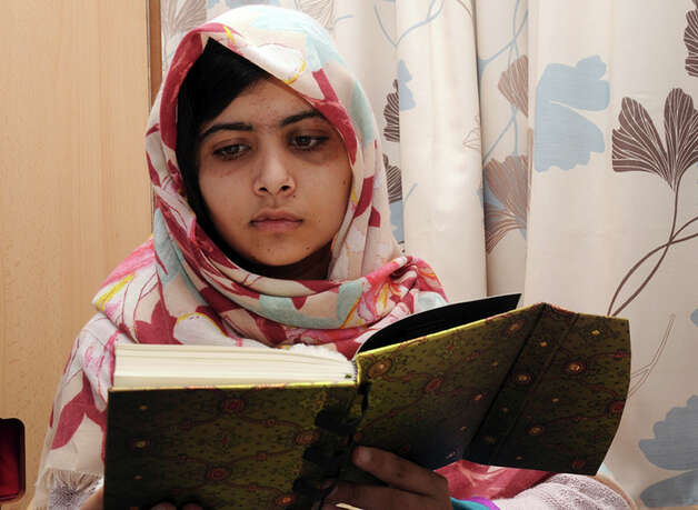Malala Yousufzai, shown here in an undated photo from the Queen Elizabeth Hospital in Birmingham, England, is the 15-year-old girl who was shot at close range in the head by a Taliban gunman in Pakistan. She was discharged on Friday  from a British hospital where she had been receiving treatment for nearly four months. Photo: AP