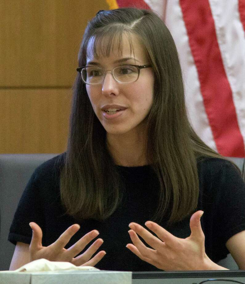 Defendant Jodi Arias testifies in her murder trial  at  Maricopa County Superior Court, on Monday, Feb 4, 2013, in Phoenix. Arias is charged with murder in the 2008 death of her boyfriend Travis Alexander. Photo: AP