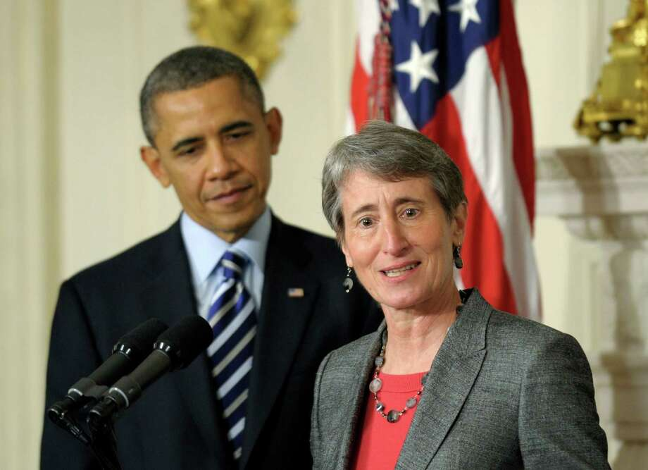 President Barack Obama nominates REI Chief Executive Sally Jewell as the new U.S. Interior Secretary.  It oversees much of America's public lands, but Interior is a low-profile Cabinet post.  To succeed, Jewell must get the President's ear -- and support.     Photo: AP