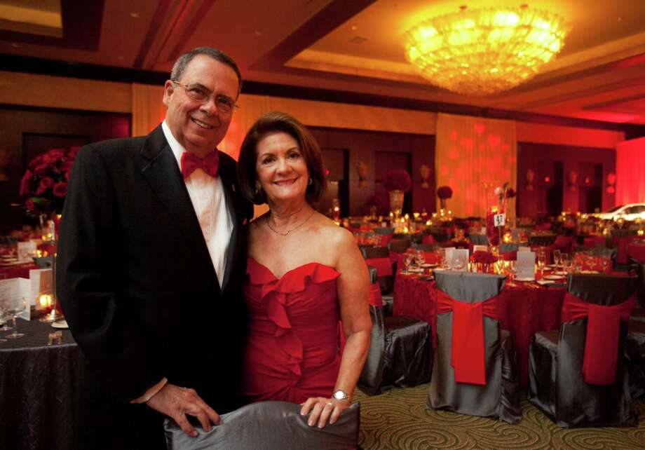 Medical honoree Miguel and wife Maria Quinones during the Houston Heart Ball at the Hilton Americas Houston Saturday, February 9, 2013 in Houston. Photo: Alyssa Orr, Houston Chronicle / © 2013 Alyssa Orr