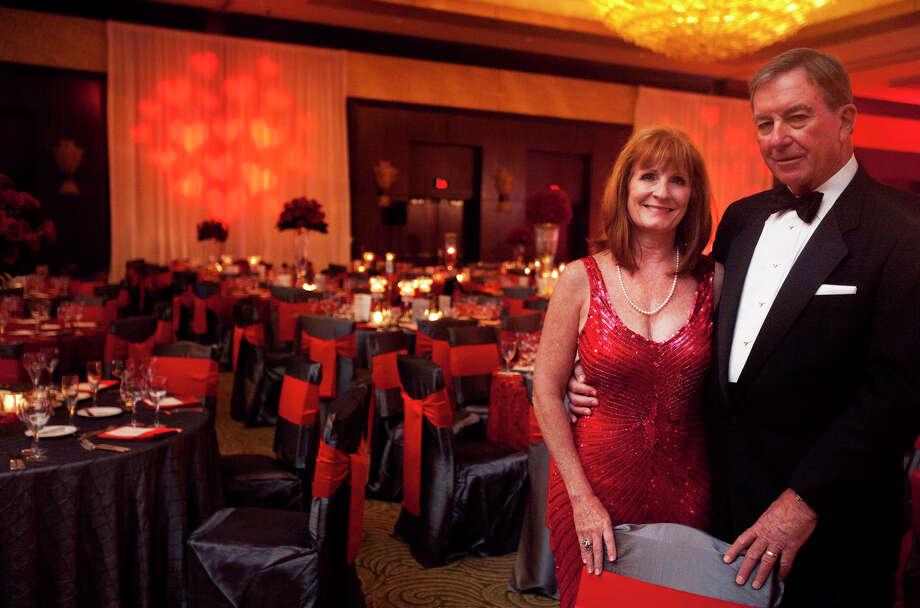 Grace and Rocky Holmes during the Houston Heart Ball at the Hilton Americas Houston Saturday, February 9, 2013 in Houston. Photo: Alyssa Orr, Houston Chronicle / © 2013 Alyssa Orr