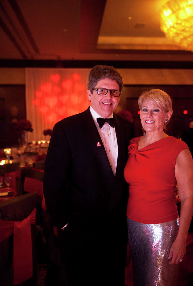 Keith and Jyl Calcote during the Houston Heart Ball at the Hilton Americas Houston Saturday, February 9, 2013 in Houston. Photo: Alyssa Orr, Houston Chronicle / © 2013 Alyssa Orr
