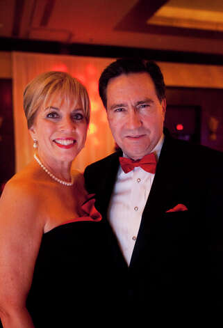 Lavonne C. Cox, and Dennis A. DeBakey, right, during the Houston Heart Ball at the Hilton Americas Houston Saturday, February 9, 2013 in Houston. Photo: Alyssa Orr, Houston Chronicle / © 2013 Alyssa Orr