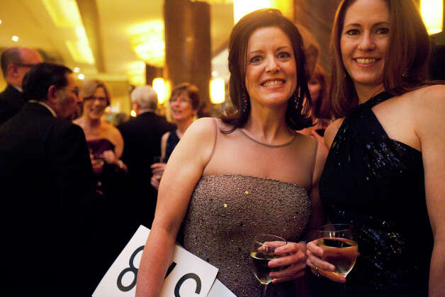 Cindy Vancleave and Rachel Clingman, right, during the Houston Heart Ball at the Hilton Americas Houston Saturday, February 9, 2013 in Houston. Photo: Alyssa Orr, Houston Chronicle / © 2013 Alyssa Orr