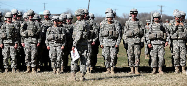 Soldiers go through medic training at Fort Sam Houston, Thursday, Jan. 31, 2013. They are part of the Ft. Sam Houston 232nd Medical Battalion and undergo 16 weeks of training. Photo: Jerry Lara, San Antonio Express-News / San Antonio Express-News