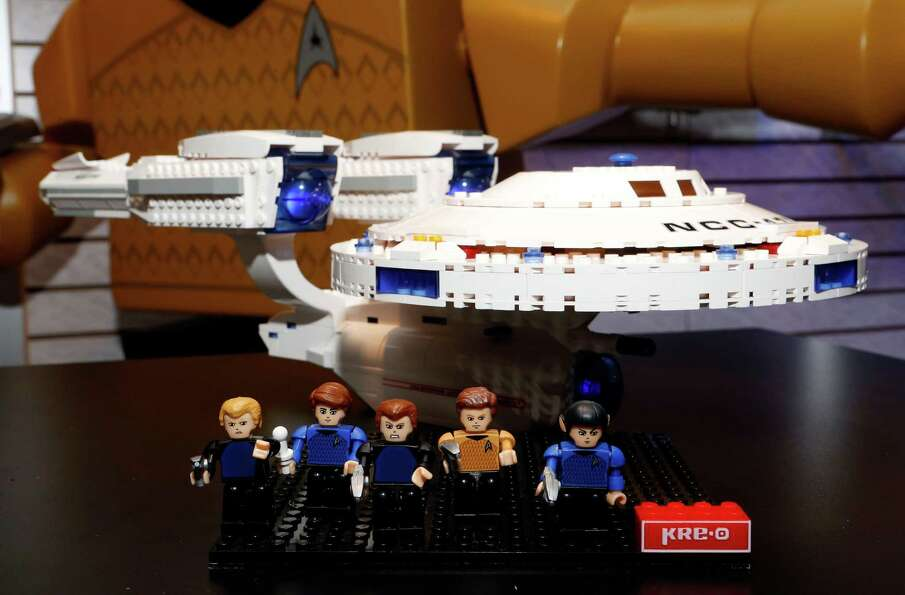 "The ""KRE-O Star Trek Enterprise"" set, which lets kids build the iconic ship from the anticipated"