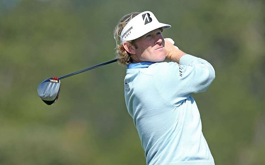 Brandt Snedeker watches his tee shot on the ninth hole during the final round of the AT&T Pebble Beach National Pro-Am at Pebble Beach Golf Links on February 10, 2013 in Pebble Beach, California. Photo: Jeff Gross, Getty Images