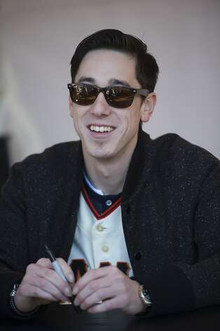 San Francisco Giants pitcher Tim Lincecum signs gets ready to sign autographs during fan appreciation day at AT&T Park in San Francisco, Calif., on Saturday, Feb. 9, 2013. Photo: David Paul Morris, Special To The Chronicle