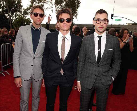 (L-R) Musician Andrew Dost, ssinger Nate Ruess and guitarist Jack Antonoff of fun. attend the 55th Annual GRAMMY Awards at STAPLES Center on February 10, 2013 in Los Angeles, California. Photo: Christopher Polk, Getty Images For NARAS / 2013 Getty Images