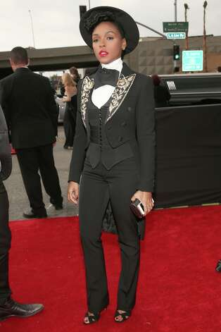 Singer Janelle Monae attends the 55th Annual GRAMMY Awards at STAPLES Center on February 10, 2013 in Los Angeles, California. Photo: Christopher Polk, Getty Images For NARAS / 2013 Getty Images