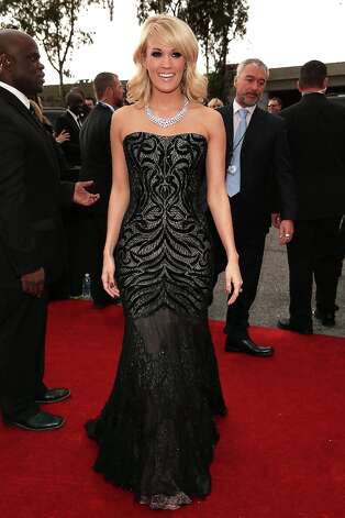 Carrie Underwood arrives at the 55th Annual GRAMMY Awards on February 10, 2013 in Los Angeles, California. Photo: Christopher Polk, Getty Images For NARAS / 2013 Getty Images