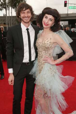 Musicians Gotye (L) and Kimbra attend the 55th Annual GRAMMY Awards at STAPLES Center on February 10, 2013 in Los Angeles, California. Photo: Christopher Polk, Getty Images For NARAS / 2013 Getty Images