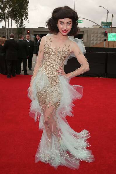 Singer Kimbra attends the 55th Annual GRAMMY Awards at STAPLES Center on February 10, 2013 in Los An