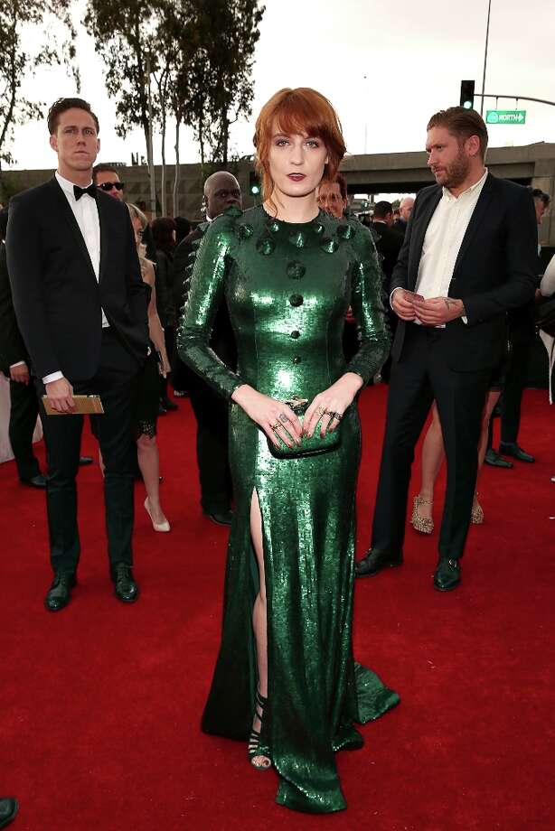 Florence Welch arrives at the 55th Annual GRAMMY Awards on February 10, 2013 in Los Angeles, California. Photo: Christopher Polk, Getty Images For NARAS / 2013 Getty Images