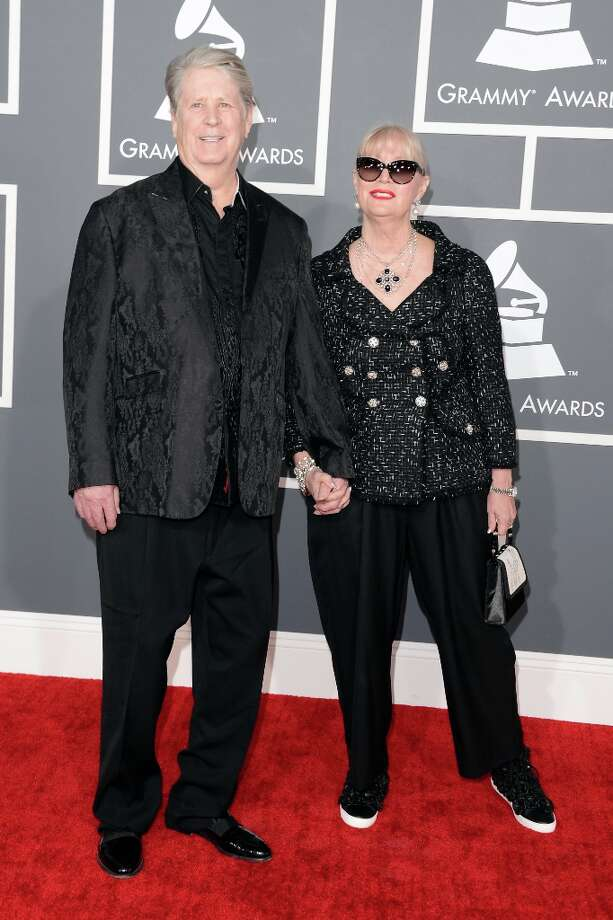 Musician Brian Wilson and wife Melinda Wilson arrive at the 55th Annual GRAMMY Awards at Staples Center on February 10, 2013 in Los Angeles, California. Photo: Jason Merritt, Getty Images / 2013 Getty Images