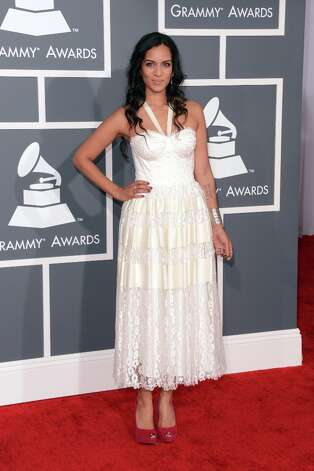 Musician Anoushka Shankar arrives at the 55th Annual GRAMMY Awards at Staples Center on February 10, 2013 in Los Angeles, California. Photo: Jason Merritt, Getty Images / 2013 Getty Images