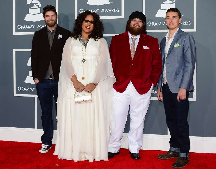 Nominees for Best New Artist and Best Rock Performance Alabama Shakes arrive on the red carpet at the Staples Center for the 55th Grammy Awards in Los Angeles, California, February 10, 2013. AFP PHOTO Frederic J. BROWN Photo: FREDERIC J. BROWN, AFP/Getty Images / AFP