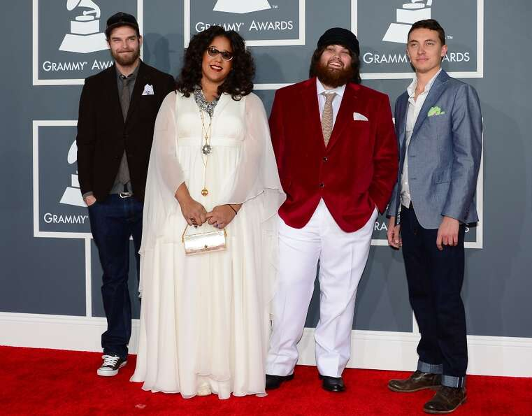 Nominees for Best New Artist and Best Rock Performance Alabama Shakes arrive on the red carpet at th