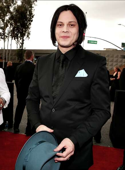 Jack White arrives at the 55th Annual GRAMMY Awards on February 10, 2013 in Los Angeles, California.