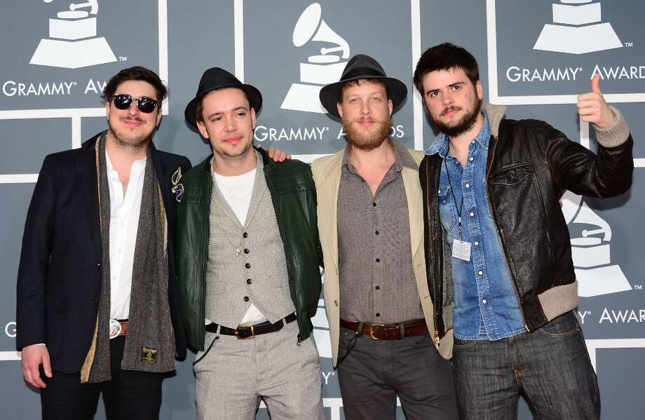 Nominees for Album of the Year, Best Rock Performance, Best Rock Song and Best Americana Album Mumford & Sons arrive on the red carpet at the Staples Center for the 55th Grammy Awards in Los Angeles, California, February 10, 2013. AFP PHOTO Frederic J. BROWN Photo: FREDERIC J. BROWN, AFP/Getty Images / AFP