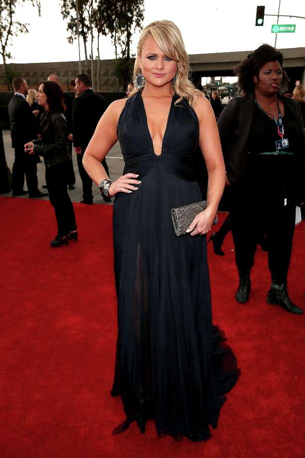Worst: Miranda Lambert, you are way badder than that dress. Photo: Christopher Polk, Getty Images For NARAS / 2013 Getty Images
